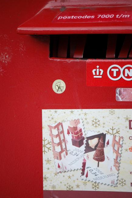 De postzegels in de winkel
