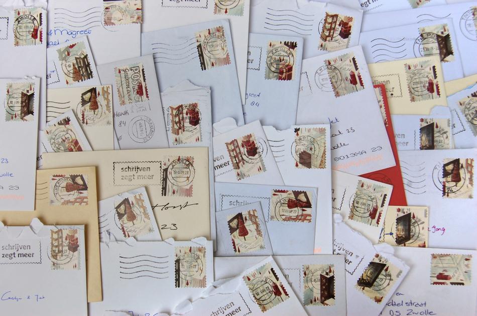 De postzegels!