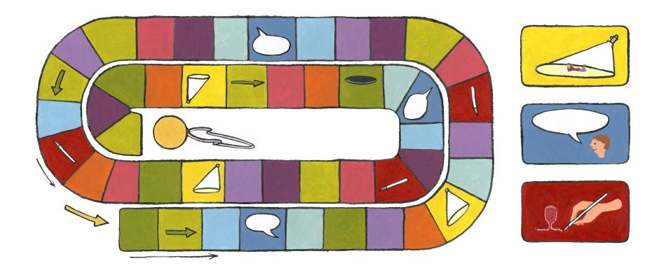 Illustratie voor taalboek basisonderwijs