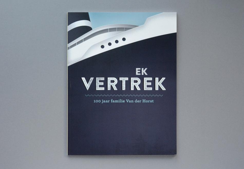 Illustratie voor omslag Ek Vertrek - 100 jaar Van der Horst