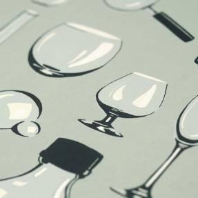 jetswerk illustratie glas zeefdruk druktechniek vernis grafisch atelier kampen