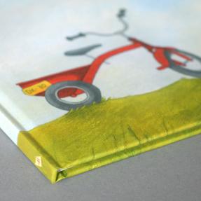 jetswerk illustratie omslag cover rode fiets boek joost en de dx-70 de banier