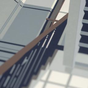 Jetswerk zeefdruk trappenhuis kunstacademie kampen