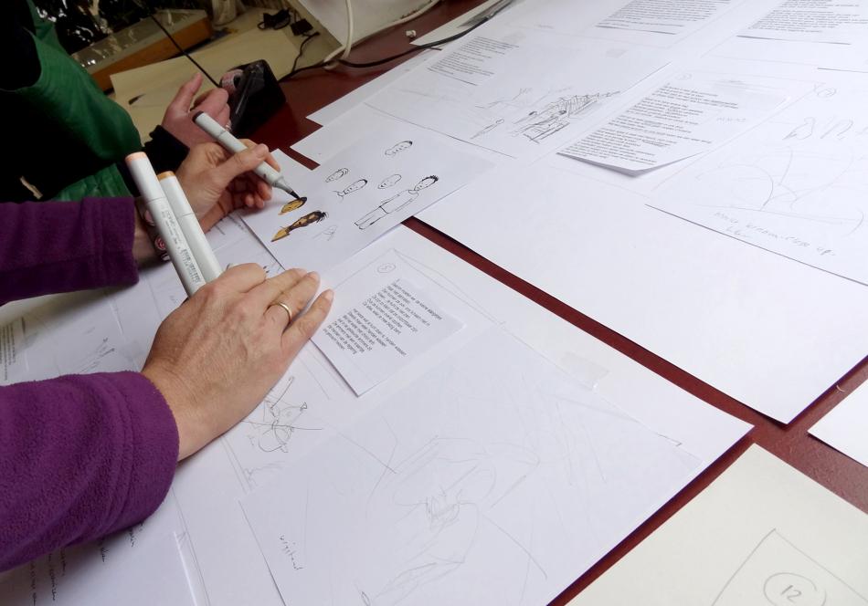 Samen schetsen maken