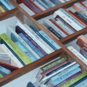 Jetswerk boekenkast gedichten detail