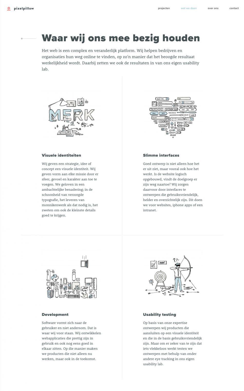 Illustraties op de website