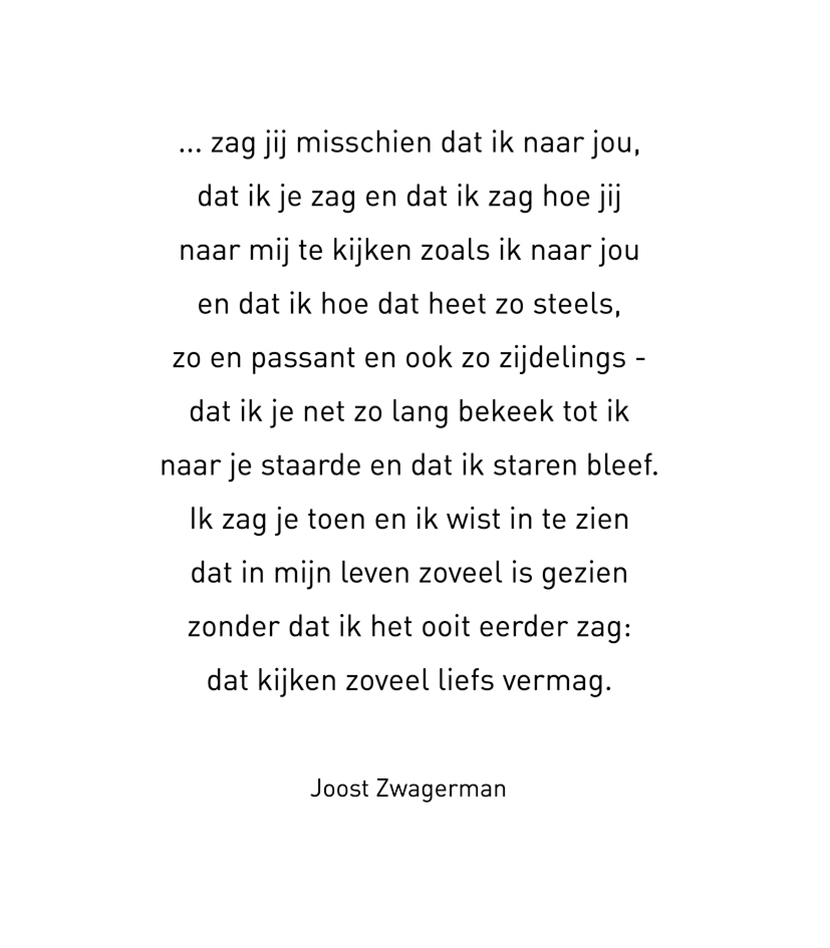 Gedicht van Joost Zwagerman