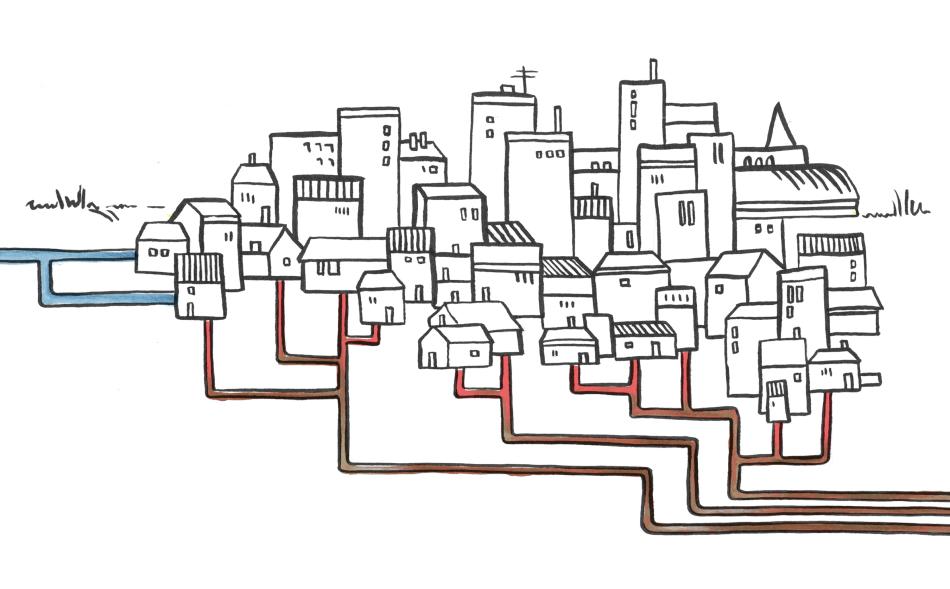 Illustraties voor internationale energieproject Inners
