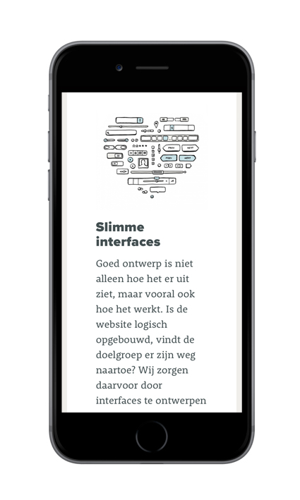 Illustraties voor de mobiele website