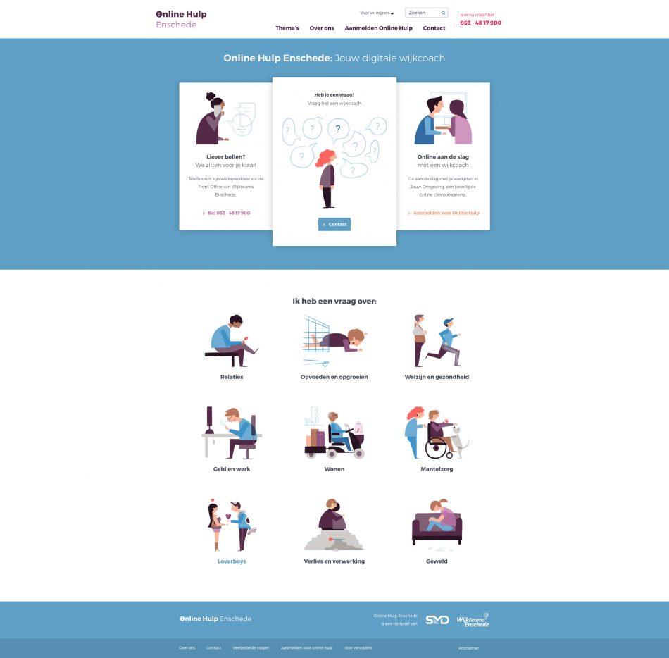 Illustraties in de website
