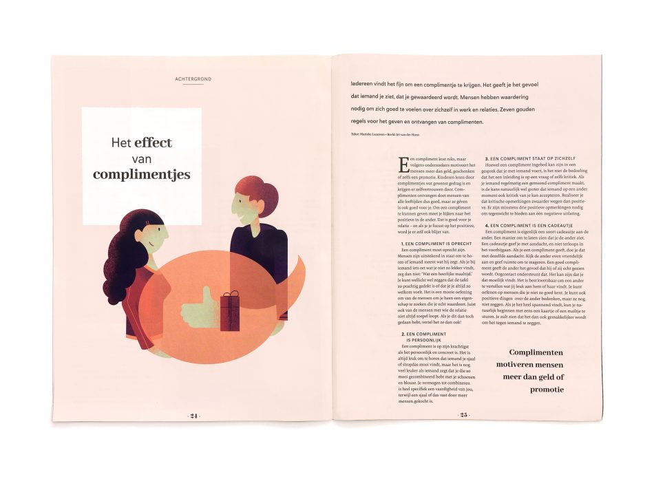 Illustratie in magazine