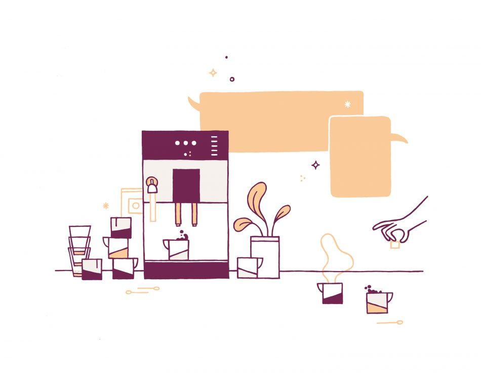 Illustraties voor huisstijl ontwerpbureau Pixelpillow