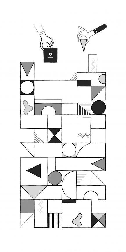 Illustratie voor raam